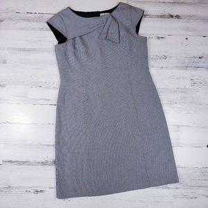 Houndstooth sleeveless dress sheath cap short plus